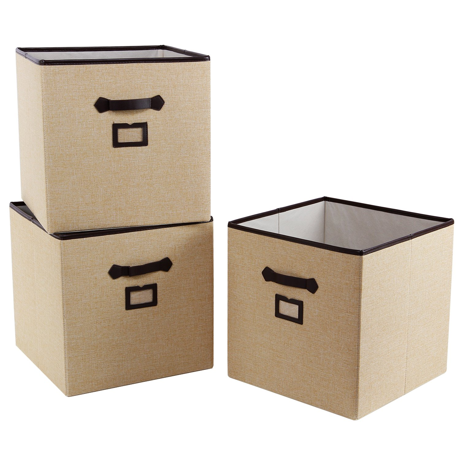 """Lifewit Polyester 13"""" Cube Storage Bins with Label Holder Foldable Storage Baskets Containers for Shelves, Clothes, Kid Toys"""