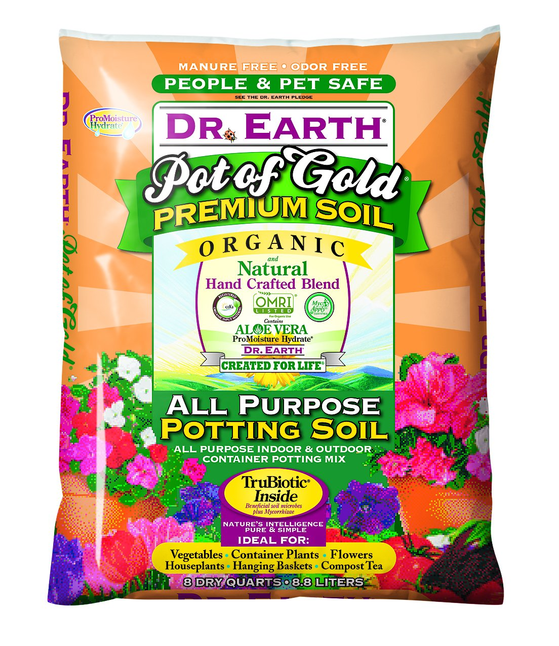 Dr. Earth Pot of Gold All Purpose Potting Soil 8 qt by Dr. Earth