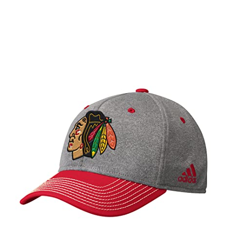 f19f2882dc6a0 Image Unavailable. Image not available for. Color  adidas Chicago  Blackhawks Heathered Grey Structured ...