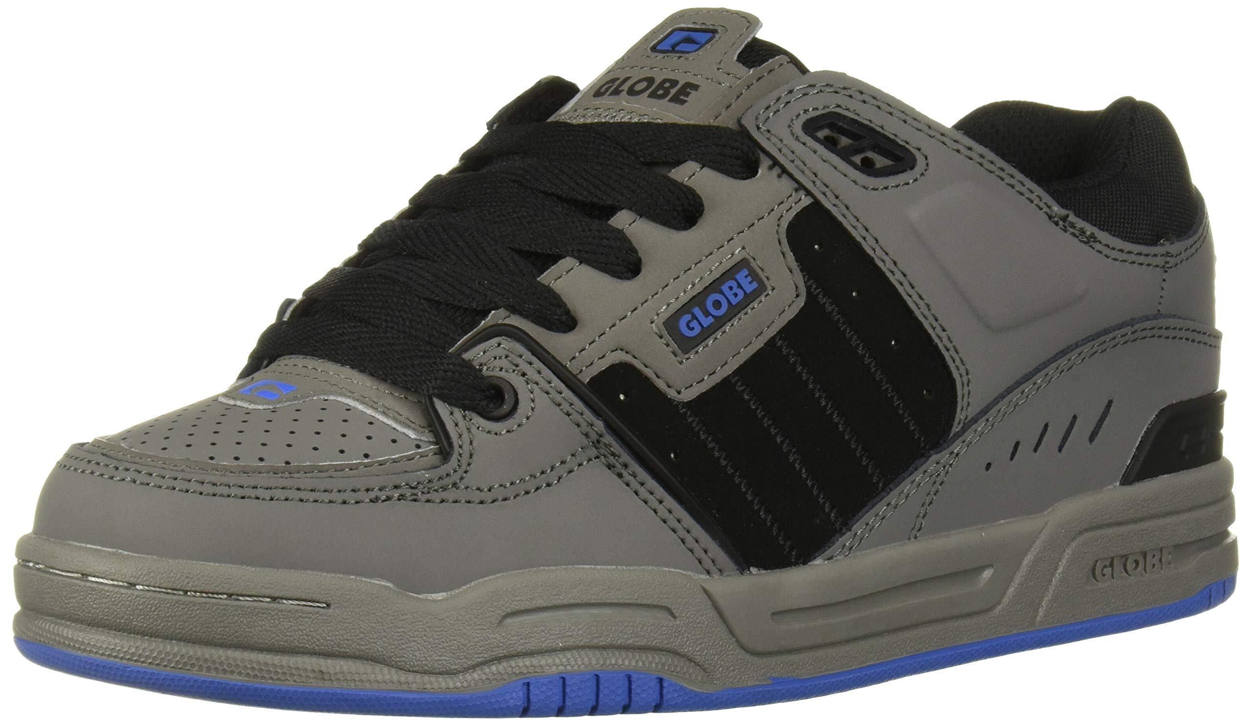 Globe Men's Fusion Skate Shoe, Charcoal/Black/Blue, 7.5 Medium US by Globe