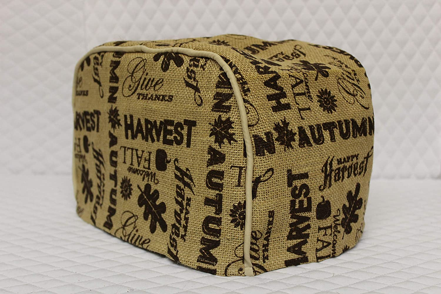"4 Slice Long Slot Toaster Cover (15.75""x8""x8"") / Burlap, Harvest"