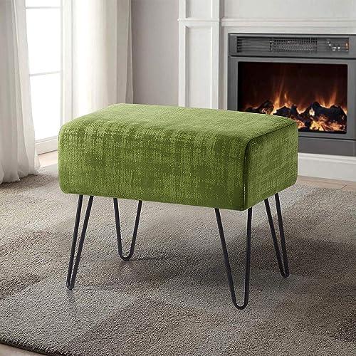 Home Soft Things Serenta Textured Velvet Ottoman