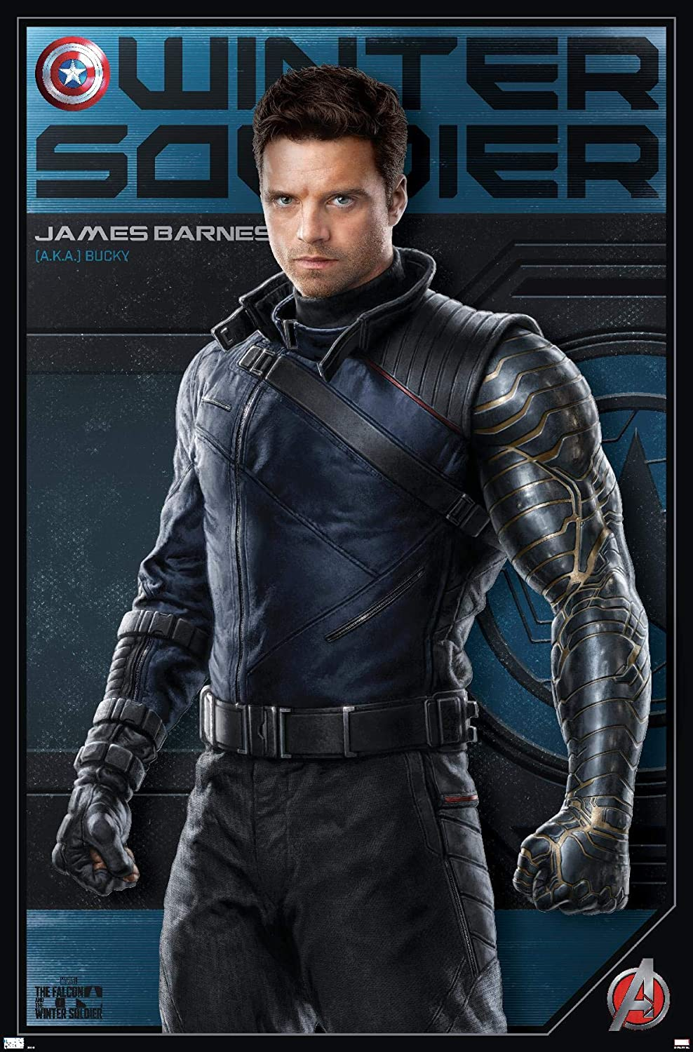 Trends International Marvel: Year of The Shield - Winter Soldier Wall Poster, 14.725