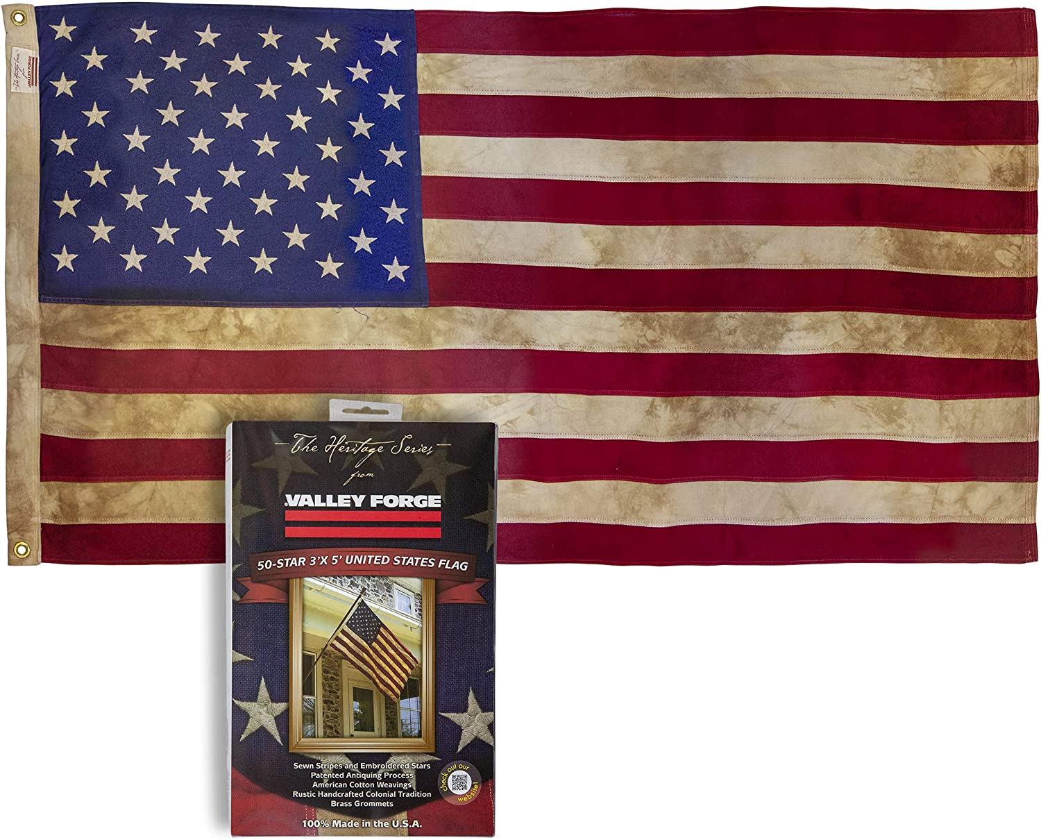 You Pick All Sizes USA Cotton Cotton American Flag with Brass Grommets