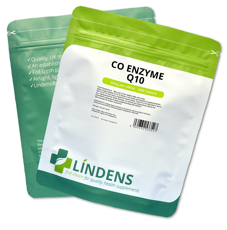 Lindens - Coenzima Q10 30 mg comprimidos - 1000 paquete ...