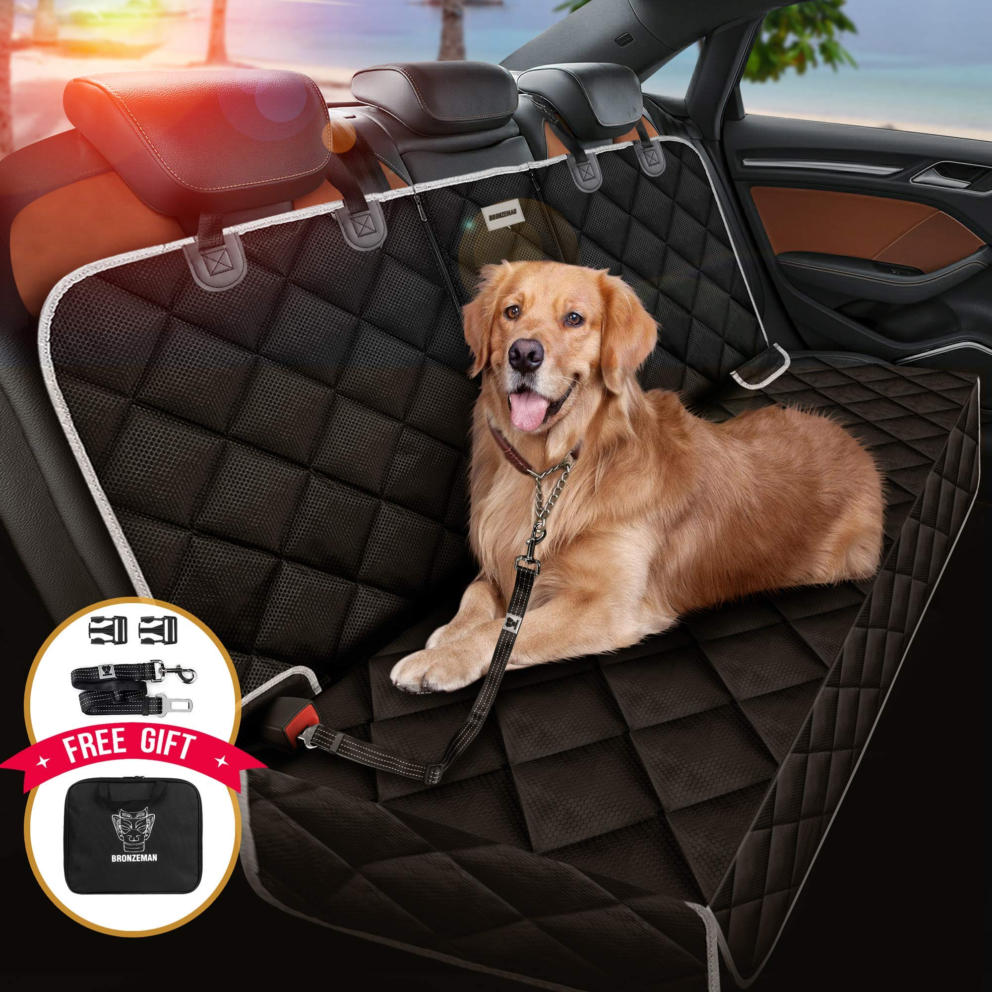 BRONZEMAN Dog Car Seat Cover Football