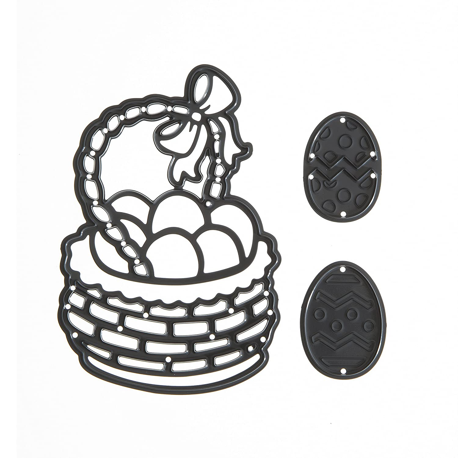 Darice Build-A-Design Die Cut Easter Basket with Eggs, 3 Piece 30001025
