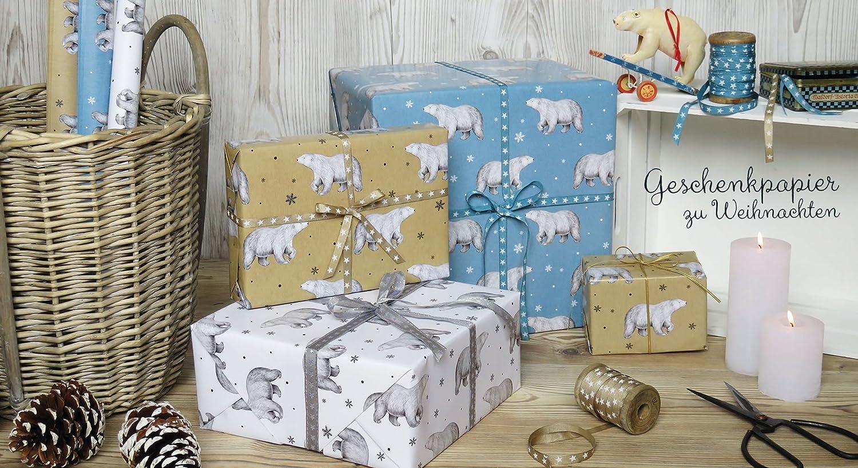 5er Set 5 Bögen Geschenkpapier Zur Geburt Storch Mit Baby