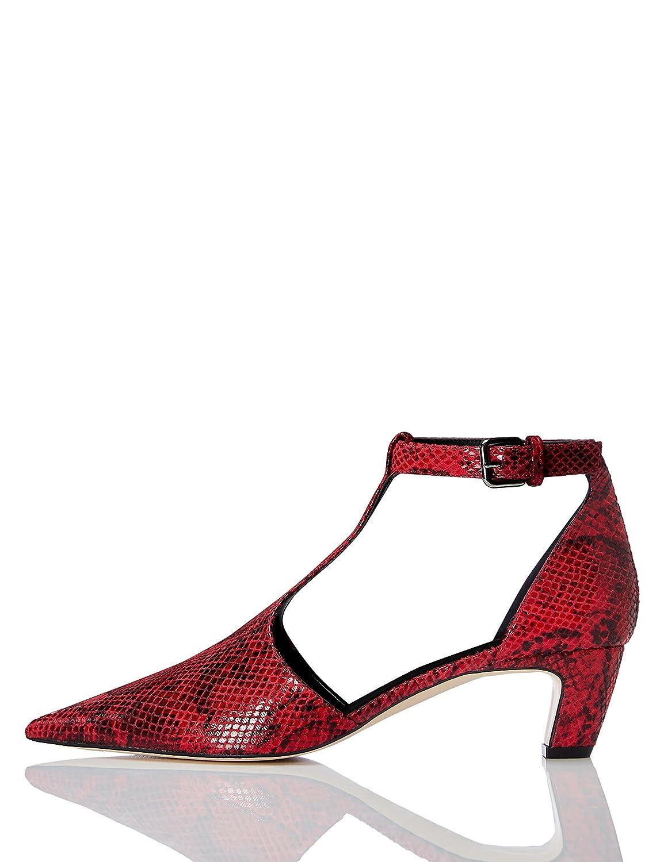 TALLA 39 EU. FIND Zapatos T-bar de Tacón Mujer