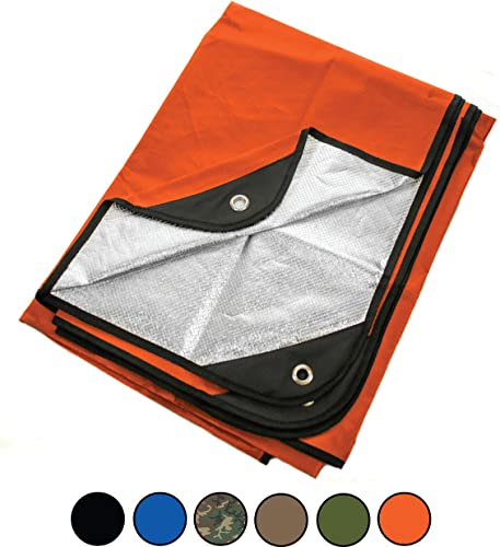 Arcturus Heavy Duty Survival Blanket – Insulated Thermal Reflective Tarp – 60 x 82 . All-Weather, Reusable Emergency Blanket for Car or Camping. Thermal Barrier Blocks Infrared Signature