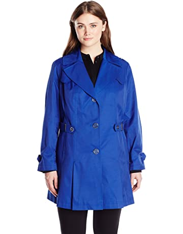 04355a7240c Via Spiga Women s Plus-Size Single-Breasted Pleated Trench Coat