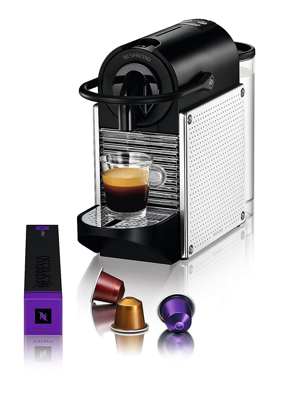 Nespresso Pixie EN125M DeLonghi - Cafetera monodosis (19 bares, Apagado automático, Sistema calentamiento rápido), Color metalizado: Amazon.es: Hogar