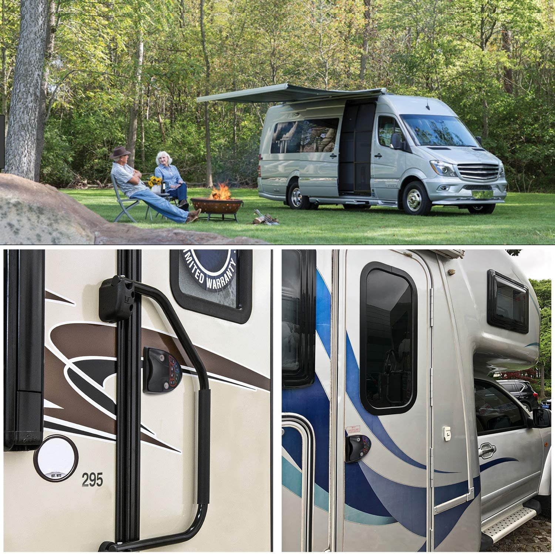RUPSE Zinc Alloy RV Keyless Entry Door Lock Latch Handle Knob Deadbolt for Trailer Caravan Camper with Keypad /& Fob 20m Wireless Remote Control