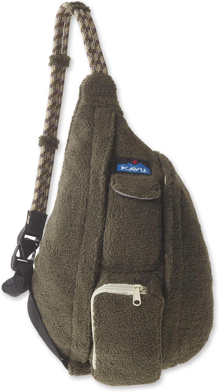 KAVU Mini Rope Fleece Bag Sling Crossbody Sherpa Backpack Travel Purse