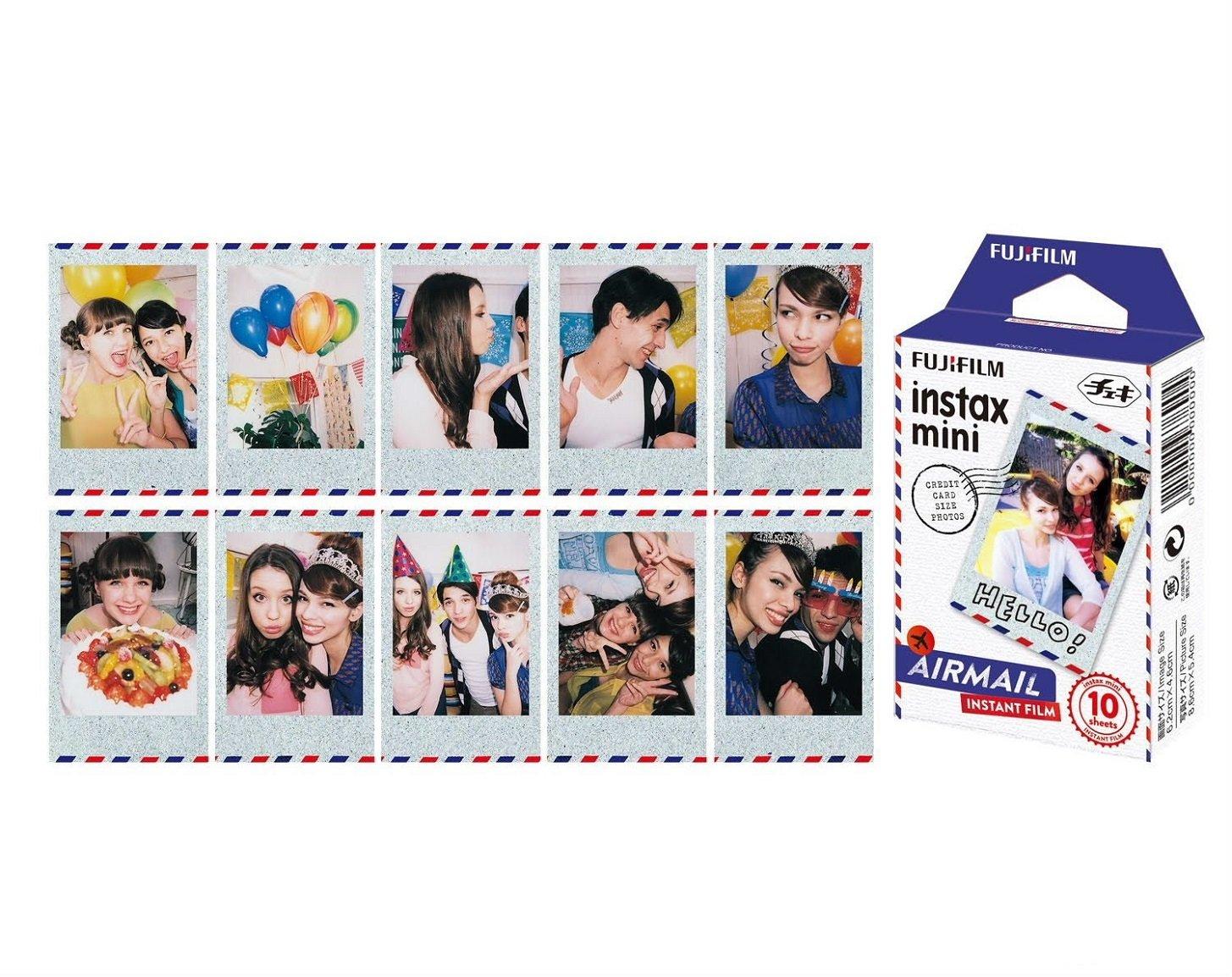 Fujifilm Instax Mini Airmail Film 10 Exposures Paper Comic Camera Photo