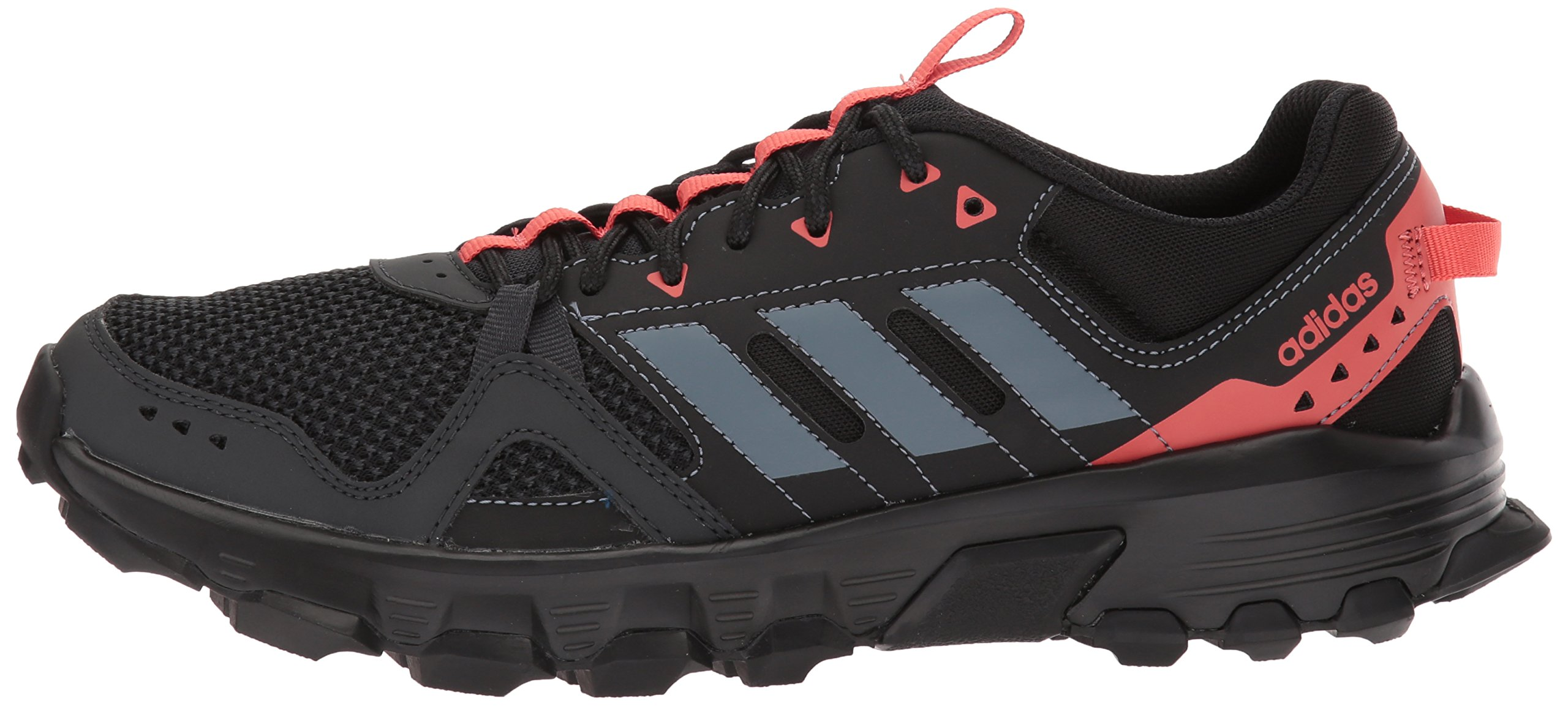 adidas Women's Rockadia w Trail Running Shoe, Carbon/Raw Steel/Trace Scarlet, 6 M US by adidas (Image #5)