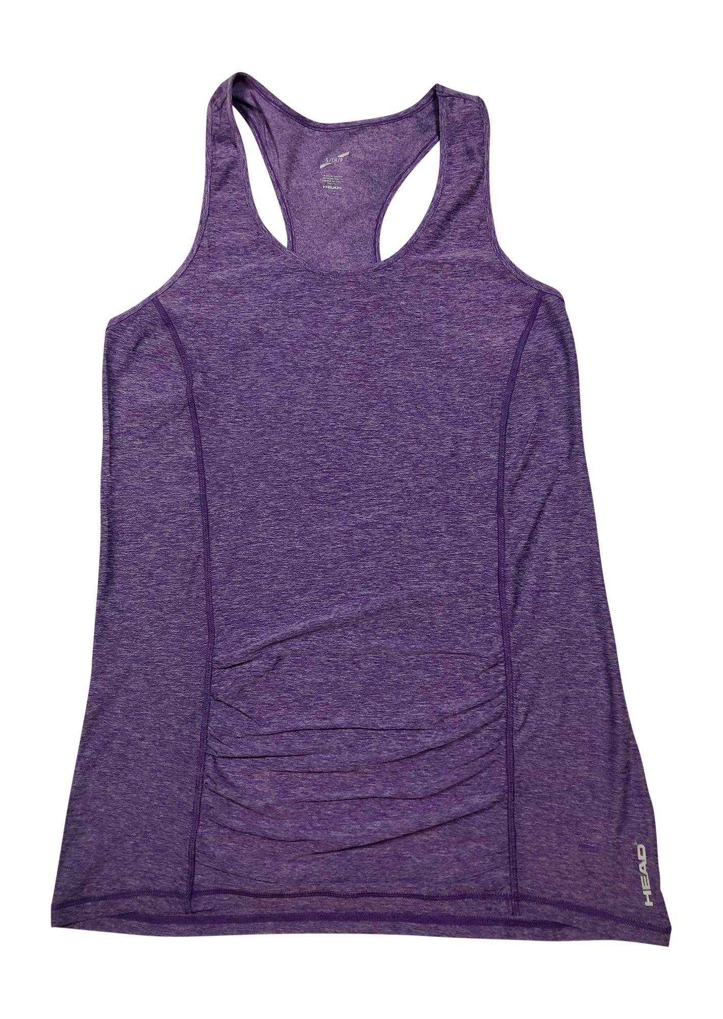 HEAD Women's Racerback Tank Top - Sleeveless Performance Activewear Shirt w/Open Back Options - Chive Blossom Heather Perfect Match, X-Small
