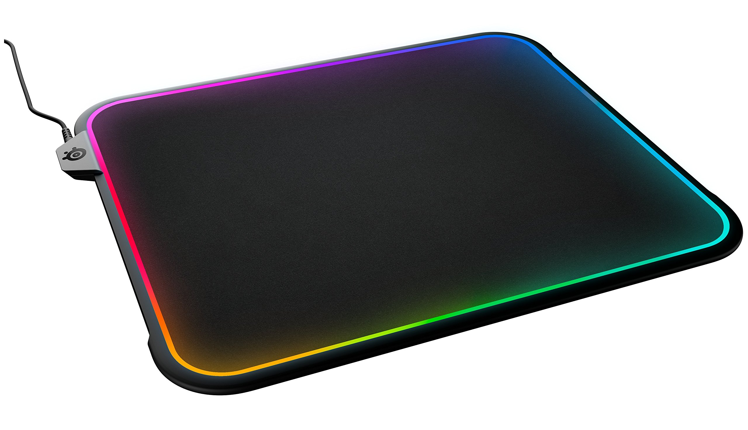 SteelSeries QcK Prism RGB Mousepad, Dual-Surface, 12-Zone Lighting with Gamesense by SteelSeries