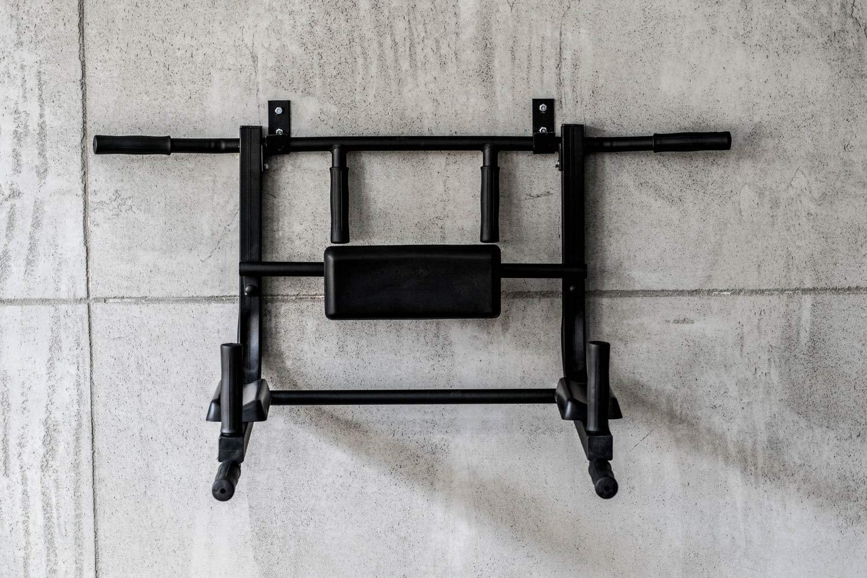 Black L BK BenchK multifunci/ón Configuraci/ón para Montaje en Pared Barra Dominada para Pull Chin Dip y Sit Up
