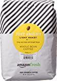 AmazonFresh Just Bright Whole Bean Coffee, Light Roast, 32 Ounce