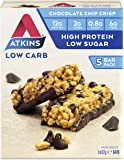 Atkins Chocolate Chip Crisp Bars | Keto Friendly Bars | 5 x 37g Low Carb Chocolate Bars | Low Carb, Low Sugar, High…