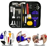 URXTRAL Watch Repair Kit Professional Spring Bar Tool Set, Watch band Link Pin Tool Set, Watch Back Removing Tool with Carrying Case 145 PCS
