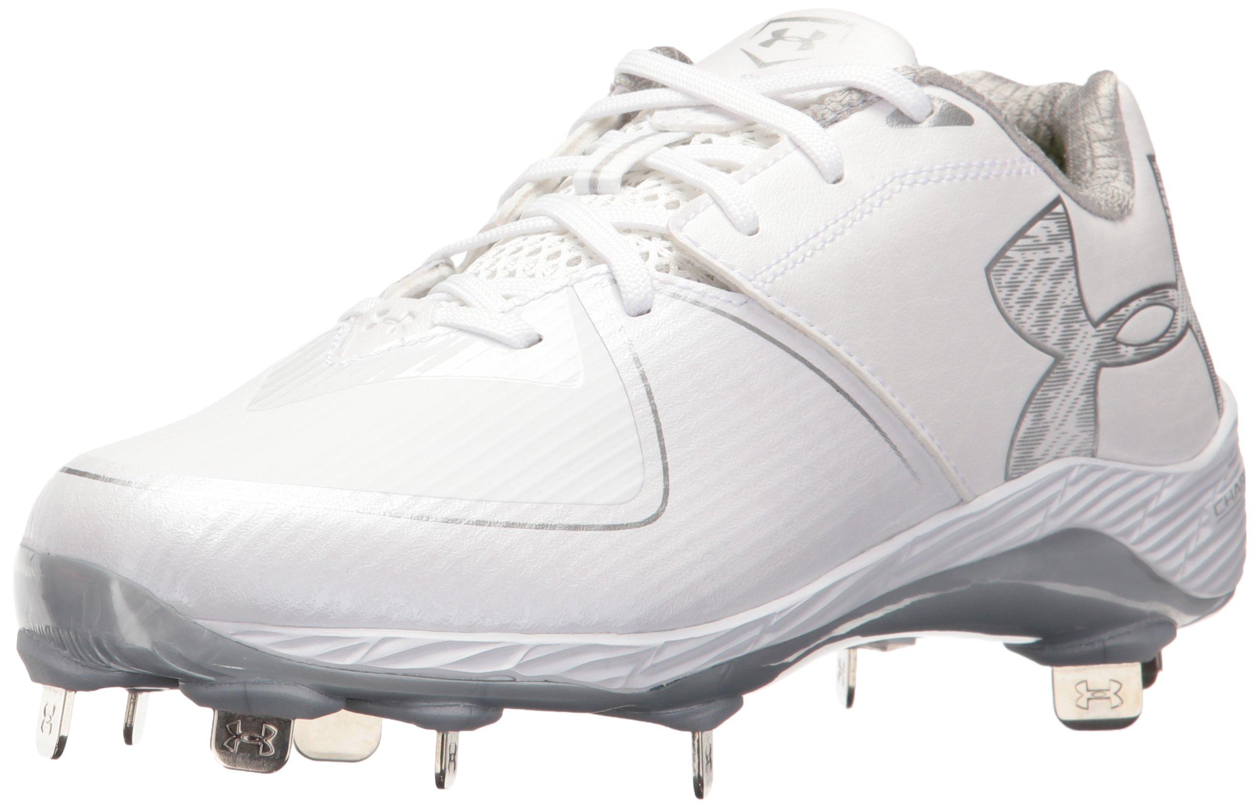 Under Armour Men's Glyde 2.0 ST Softball Shoe, White (100)/White, 8.5