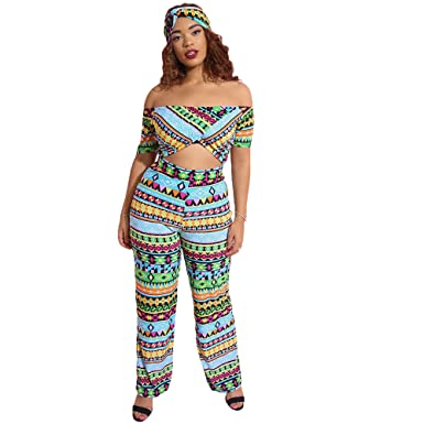 9f38710d543 Rebdolls Jumpsuit and Turban Set - Over The Shoulder Short Sleeve - Waist  Cutout - Wide