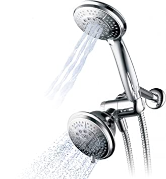 Chrome Finished Hand Held Rainfall Shower Bathroom Shower Head A 300 Holes High Pressure Handheld Showerhead