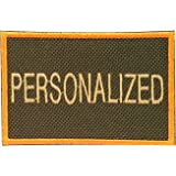Custom Embroidered Patch for Yeti Cooler (Olive/Orange with Tan Text)