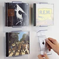 CollectorMount | ComicMount | AlbumMount CD Mount Wall Display and Shelf Stand, Invisible and Adjustable, 4 Pack