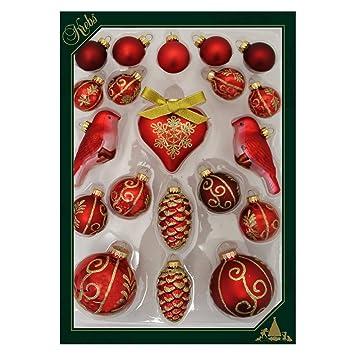 Amazon De Weihnachtsdeko 20 Teiliges Set Christbaumkugeln Herz