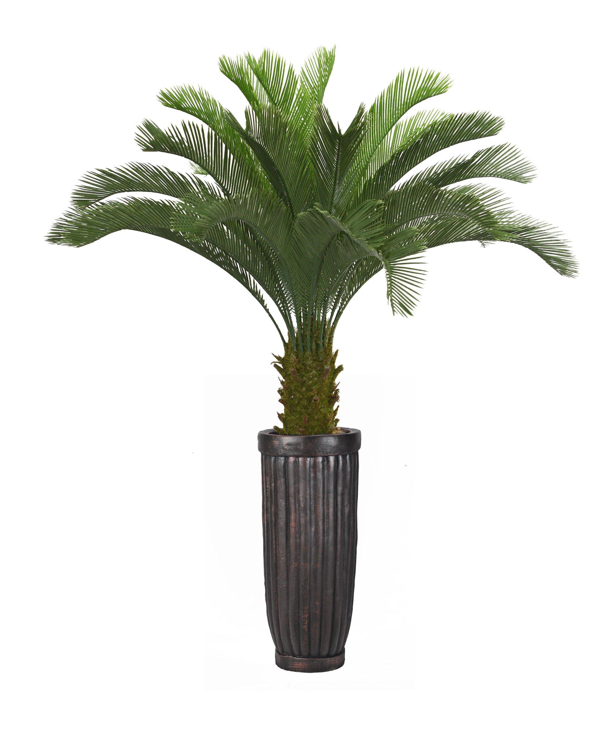 Laura Ashley VHX111214 Cycas Palm Tree Planter, 69''