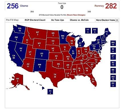 Amazon.com: Home Comforts Laminated Map - 2012 Us Election ...