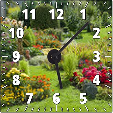Horloge Murale Jardin Fleuri Paysager Amazon Fr Cuisine Maison