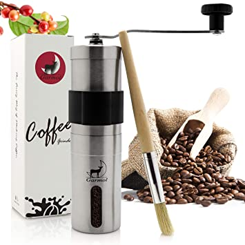 Handheld Mini Garmol Manual Coffee Grinder Portable Whole Bean ...