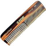 Kent OT Pocket Comb - Hair Straightener - Wide Tooth/Fine Tooth Comb for Hair Care - Beard Straightener Comb - Detangling Comb and Straightening Comb Styling Beard Comb