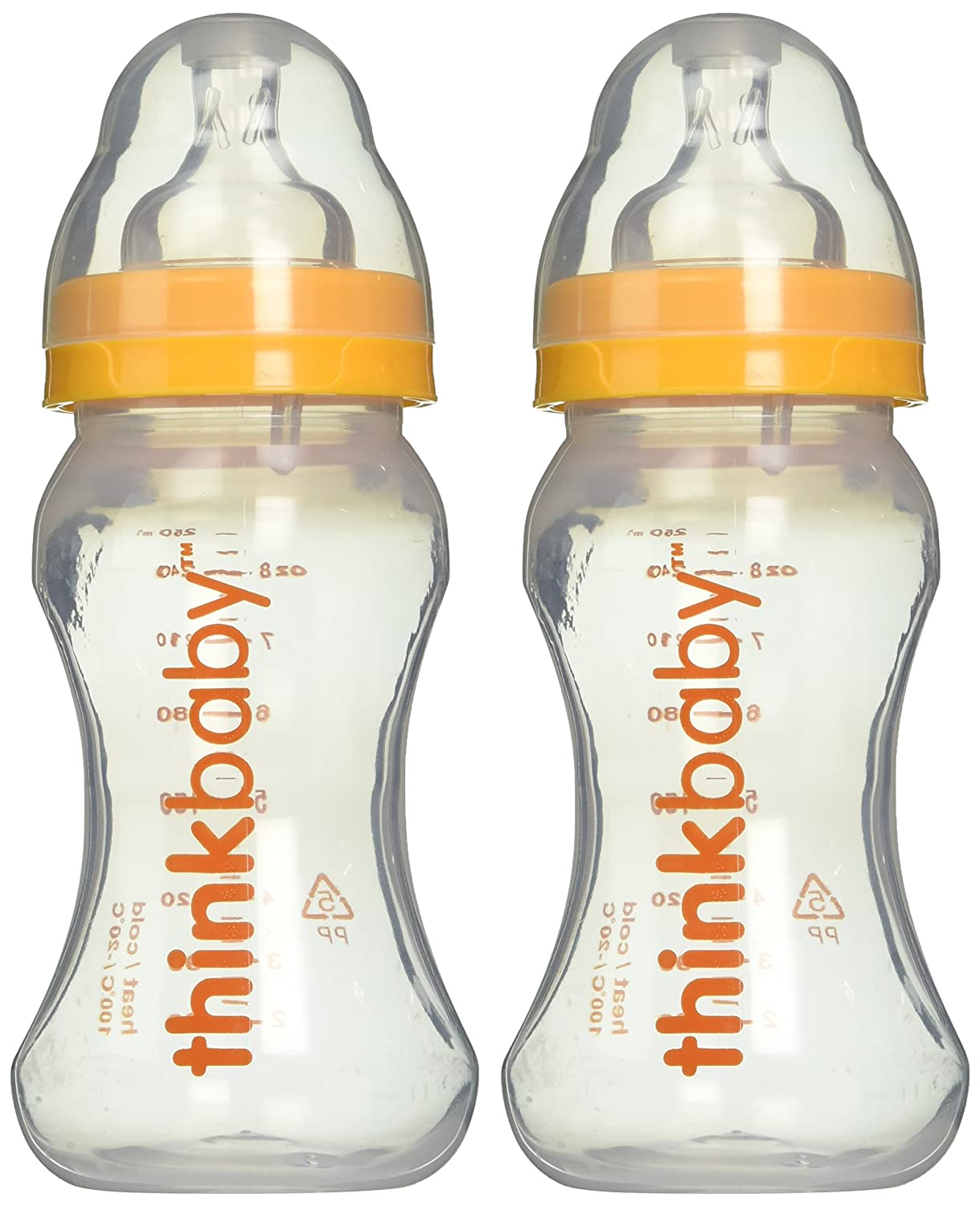 Thinkbaby BPA Free Vented Baby Bottles (9 ounce) (2 pack) : Think Baby Bottles : Baby