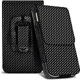 Fone-Case (Carbon) Huawei P8 Lite (2017) Hülle der nagelneuen Luxus Faux PU Vertikal Seiten Leder Pull Tab-Beutel-Haut-Kasten-Abdeckung