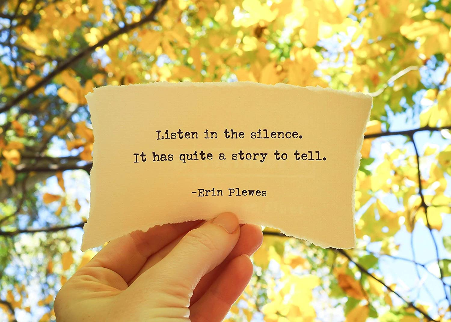 com listen in silence inspirational poem quote x framed