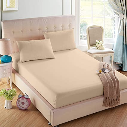 """Luxury Fitted Sheets 16/""""//40cm Extra Deep Bed Sheet Cover Single Double King Size"""