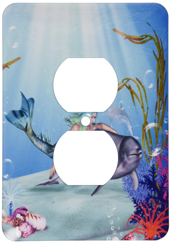 3drose LSP _ 172228 _ 6マーメイドSwims With A Dolphin Underwater – 2プラグコンセントカバー B00I4YUK18
