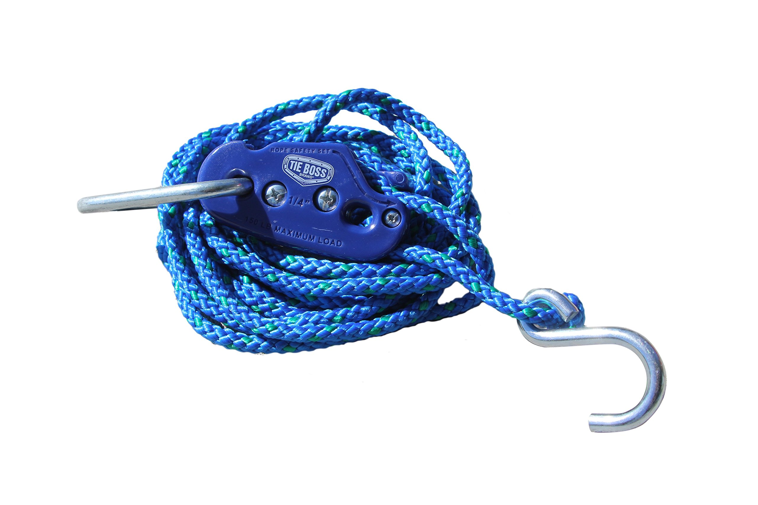 Tie Boss Pulley with 12-Feet Rope, 1/4-Inch