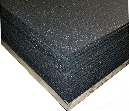 Amazon Com American Made Thick Rubber Gym Flooring 1 2 Thick 48 X 72 For Medium Large Equipment And Also Great For Plyo Jump Rope Stretch Fitness And More Sports Outdoors