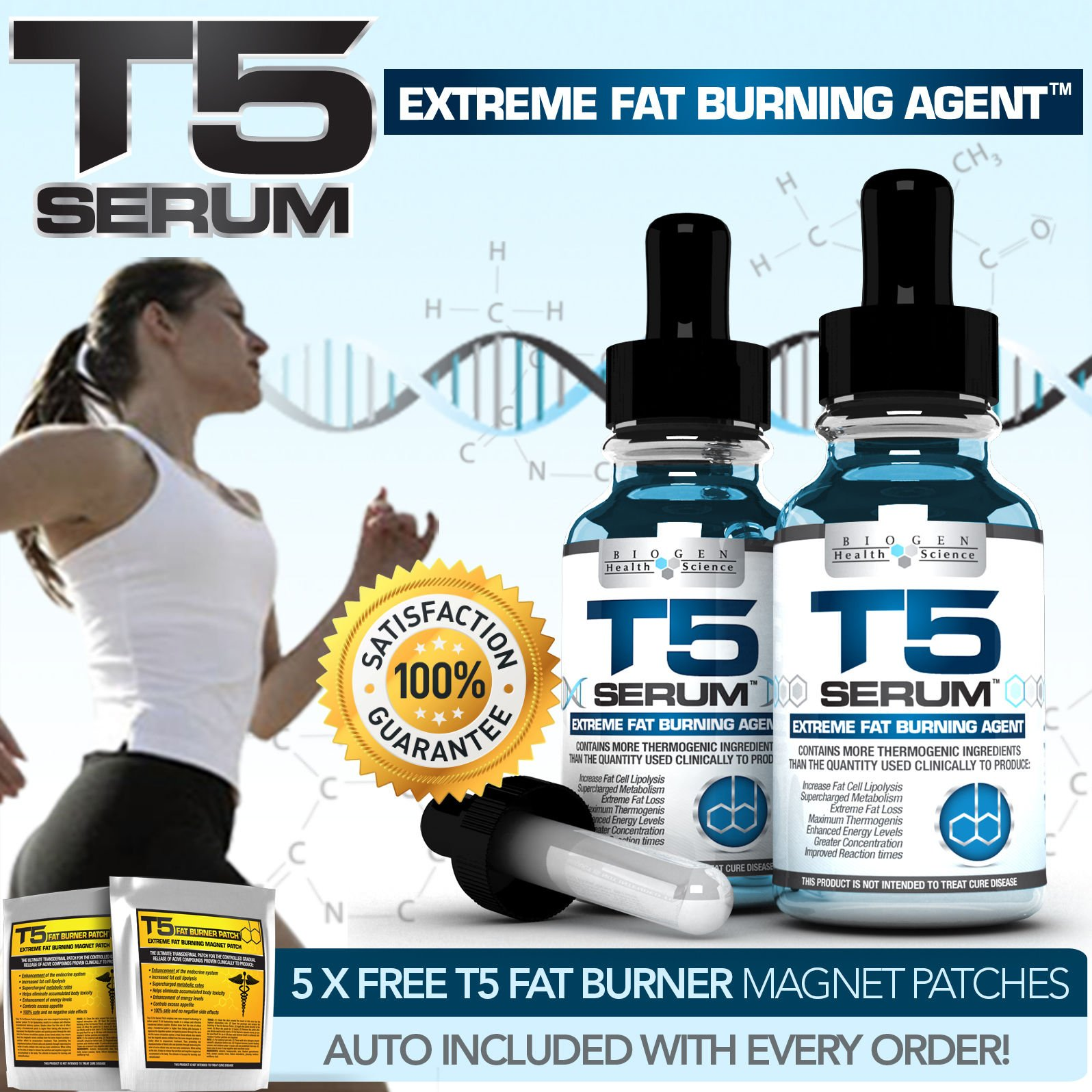 X2 Biogen T5 FAT Burners Serum Xt- Extra Strong Diet /Slimming Pills Alternative Slender Product