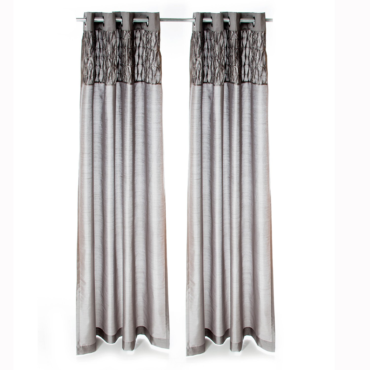 Sweet Potato Swizzle Drapery Panels, Grey
