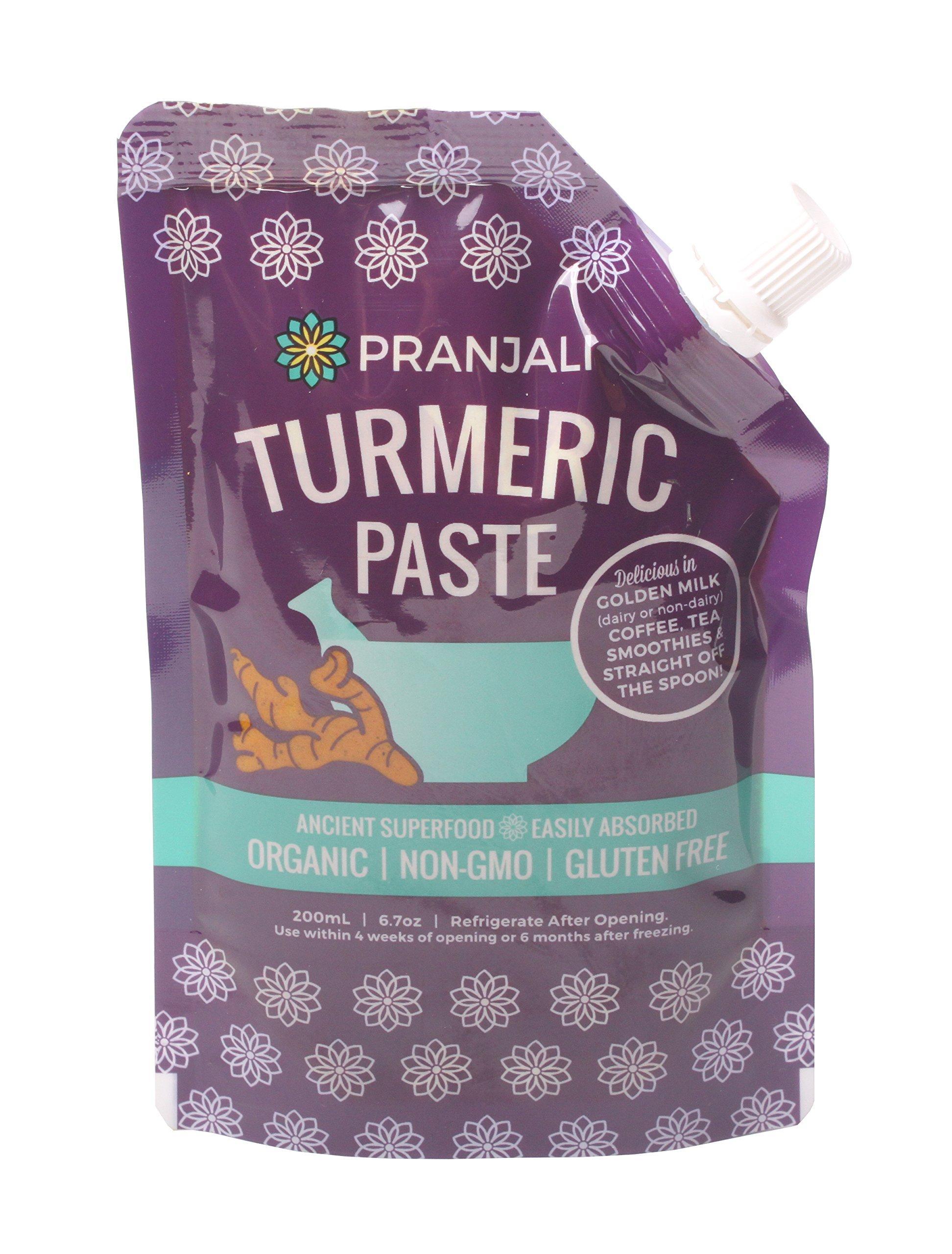 Pranjali Turmeric Paste (Golden Paste), Organic, Non-GMO, Gluten-free, 6.7 ounces