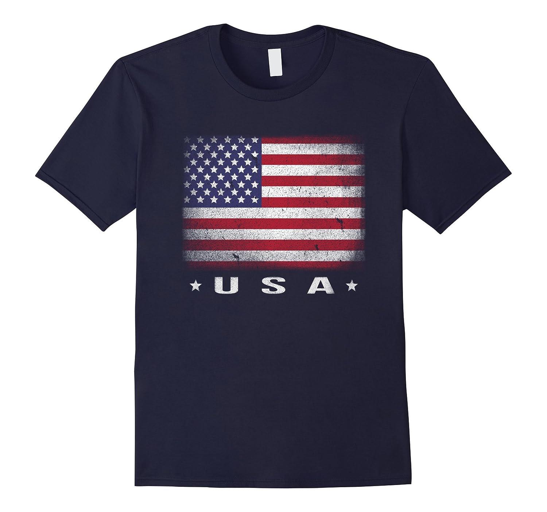 American Flag T-shirt Usa Shirt Patriotic Graphic Tee-Rose