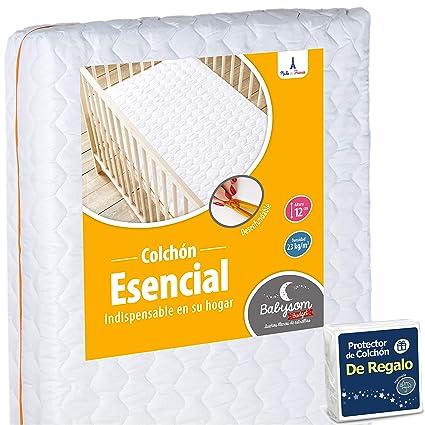 babysom – bebé colchón Essentiel + 1 colchón impermeable offert- 60 x 120 cm –
