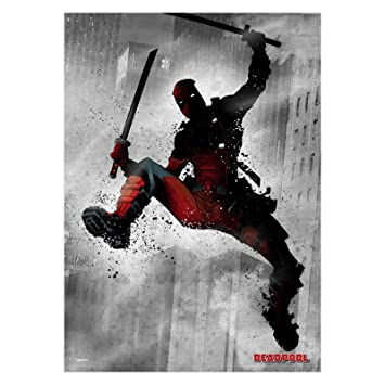 Marvel Comics Metal Poster Dark Deadpool 32 x 45 cm Posters ...
